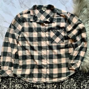 Dylan Black and Pink Flannel Shirt